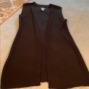 Brown Long Sweater Vest